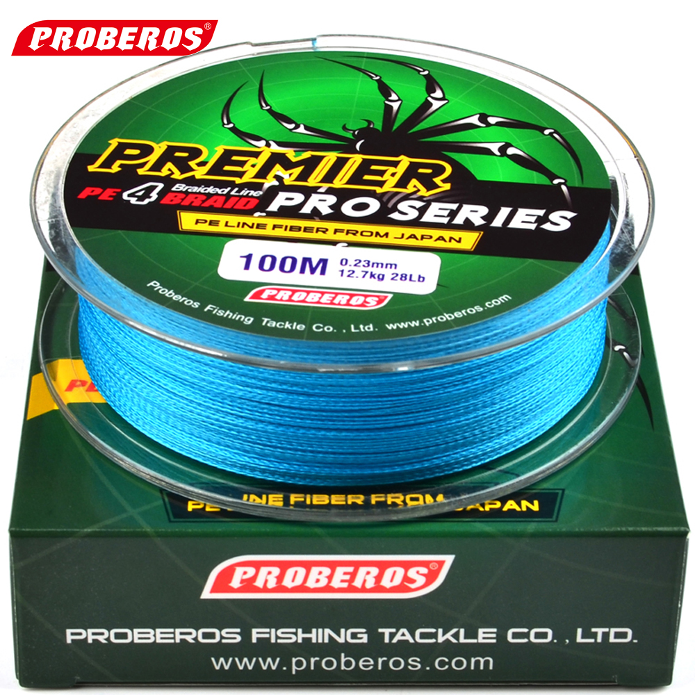100m fishing line proberos brand red green grey yellow for Fishing line brands