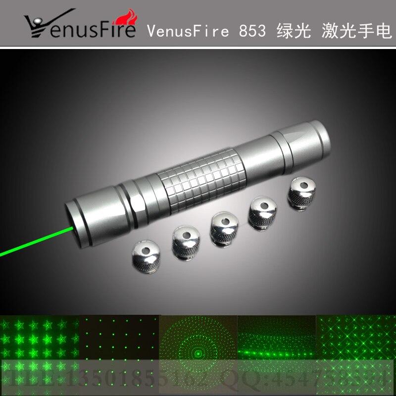 AAA 500 w 500000 m 532nm Haute puissance Militaire Vert laser pointeur LED lampe de Poche Allumette Brûler cigarettes + 5 caps + chargeur + Boîte