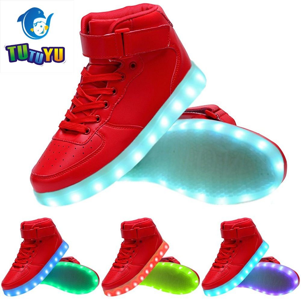 luminous importhubviewitem shoes boys sneakers led up usb geb charger girls light kids