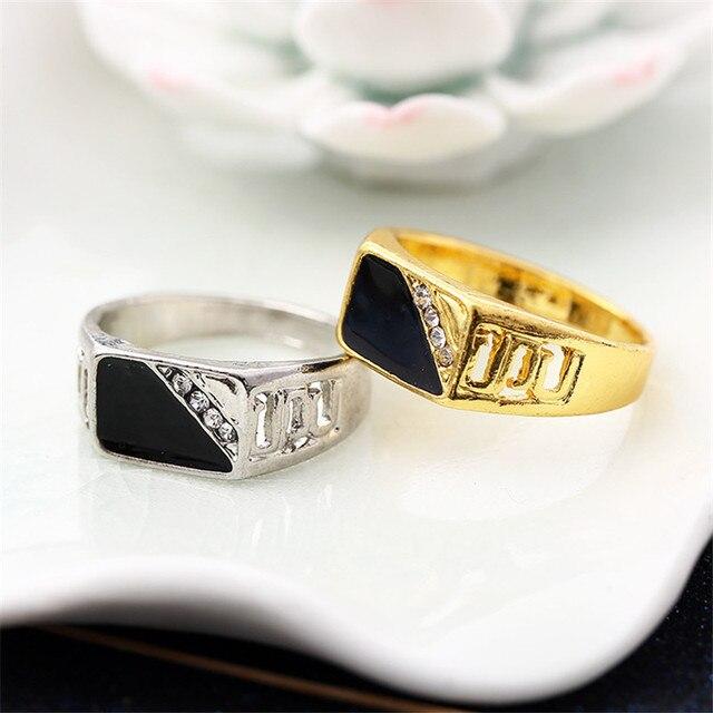 CC Rings For Men Classic Luxury Square Fashion Dripping Oil Ring Cubic Zirconia Bridegroom Wedding Engagement Bijoux CC2131 2