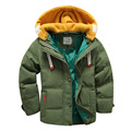 Fashion Children Coat Autumn 2017 New Windproof Warm Hooded Jacket Toddler Boy Girl Clothing Kids Outwear Down 4 Color