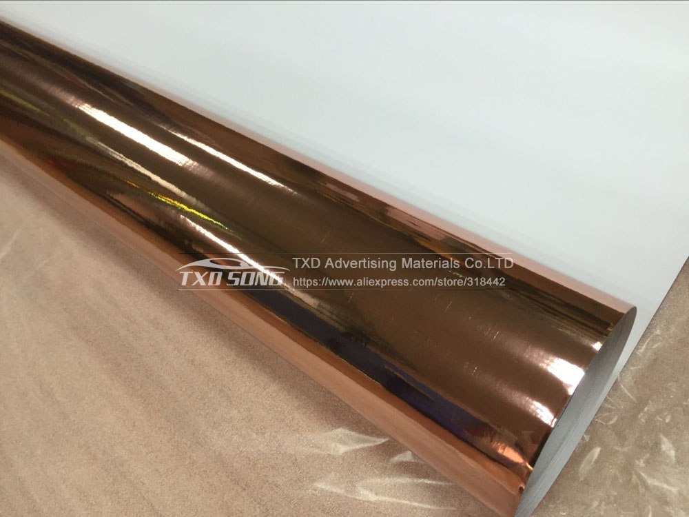 Image 3 - Good quality 1.52x20m/Roll Waterproof UV Protected rose gold Mirror chrome Vinyl Wrap Sheet Film Car Sticker Decal Air bubbules-in Car Stickers from Automobiles & Motorcycles