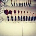 Pincel de Maquillaje Pinceles de Maquillaje cepillo de Dientes de Rack Titular Organizador de acrílico Oval Secado Soporte de Almacenamiento de 4 Colores