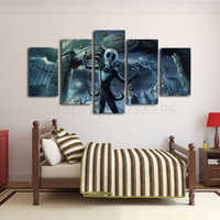 Nightmare Before Christmas Halloween Movie 5 Pieces HD Canvas Printing Picture For Living Room Photo Artwork Home Decoracion