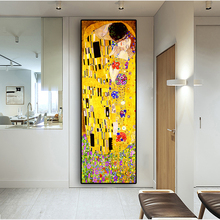 Классический художник Густав Климт поцелуй абстрактная живопись маслом на холсте печать плакат современное искусство настенные картины для гостиной Куадрос