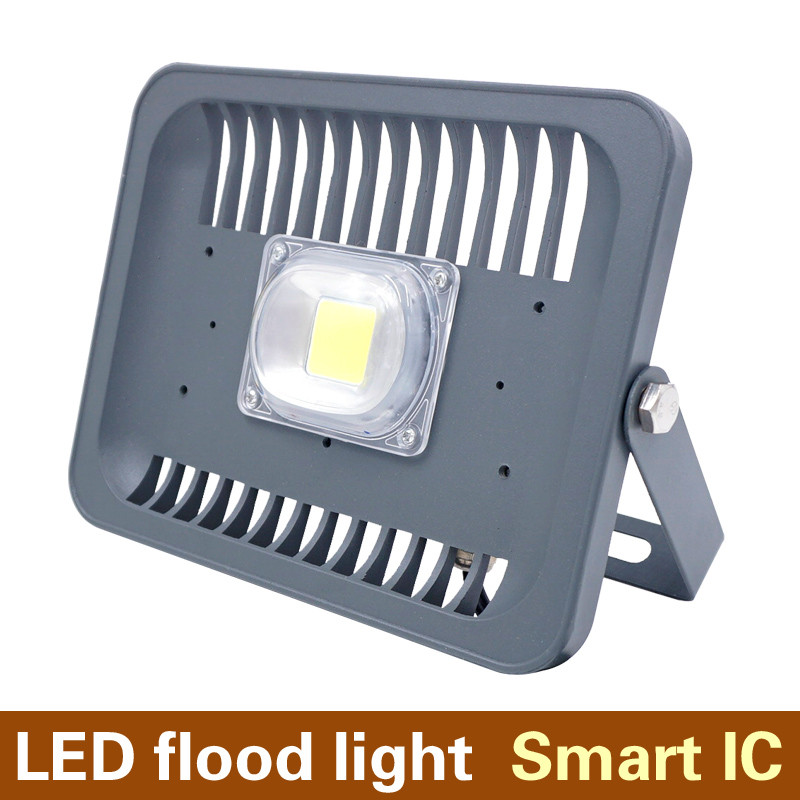 AC85-265V LED Floodlight 20W 30W 50W COB Spotlight Smart IC Epistar Wall Lamp Outdoor White/Warm White/Red/Green/Blue 5pcs/lot