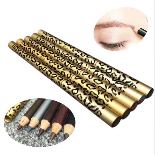 1 pz Pro di Trucco Del Sopracciglio Enhancer 100% Sweat & Matita di Sopracciglio Impermeabile Penna Eye Brow Scuro Brown Leopard Eye Brow matita