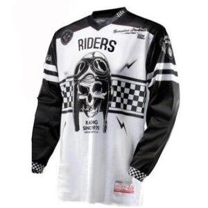 Image 2 - 2019 nowy DH MX Downhill moto cross koszulka wyścigowa moto rcycle moto koszulka z długim rękawem off road jersey 100% poliester koszulka rowerowa