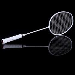 Grafite Singolo Racchetta Da Badminton Professionale In Fibra di Carbonio Racchetta Da Badminton con Borsa Per Il Trasporto FK88