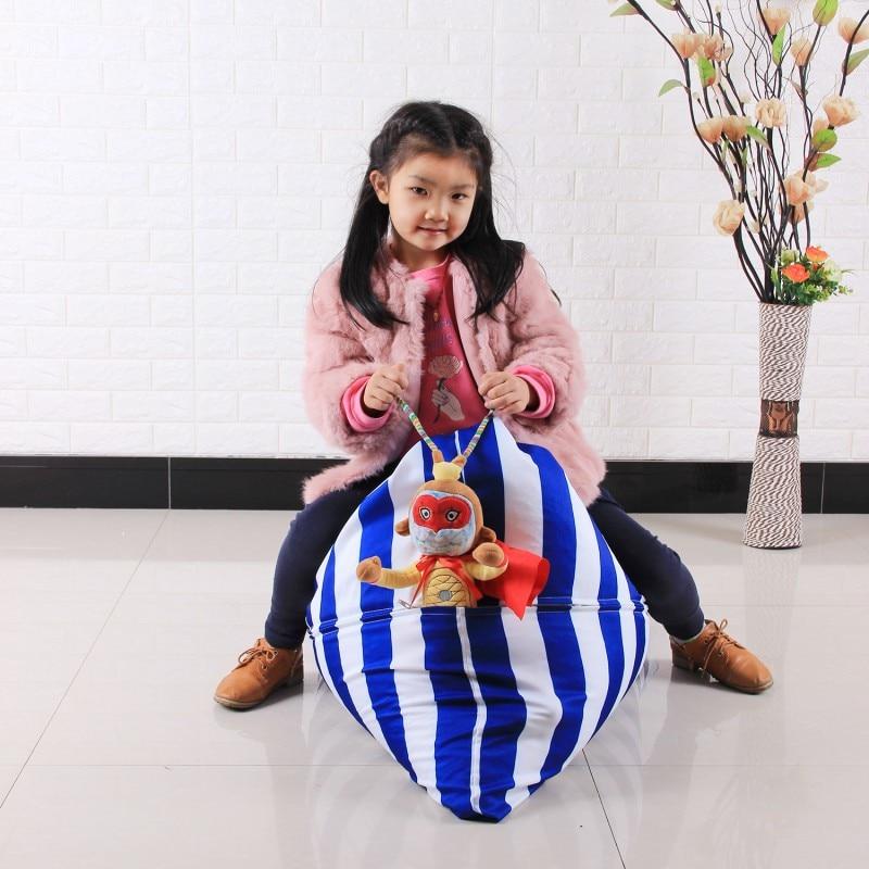2018 Hot Kinderen Knuffel Organizer Creatieve Stoel Voor Kinderen Stuffable Dier Speelgoed Opslag Bean Bag Gevulde
