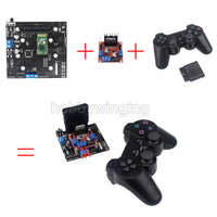 6CH Servo Control Board With L298N Motor Driver Module PS2 Wireless Control Handle For RC Smart