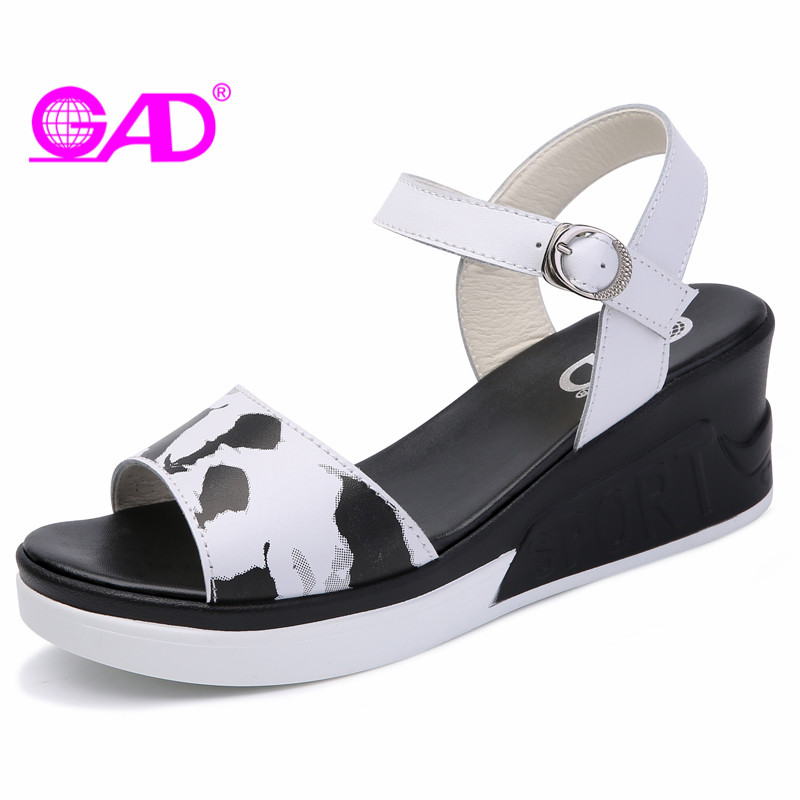 GAD Platform Women Sandals Summer Mixed Colors Open Toe Breathable Women Wedges Sandals Fashion Casual High Heels Sandals Women msfair round toe wedges women sandals fashion crystal high heels casual women sandal shoes 2018 summer open toed buckle sandals