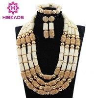 Новые популярные молочно белого цвета, украшение с коралловыми бусинами комплект Африканский Свадебный/Для женщин ожерелье бижутерия с бу