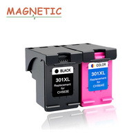 2x Magnetic Compatible Ink Cartridge For HP301 For HP Deskjet 1000 1050 2000 2050 2050S 2510 3510 3050 3050a 301