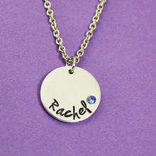 Elegant Disc Birthstone Necklace 2016 New Listing Rhinestones Necklaces Popular Choker Can Customized Any Name  YP2957