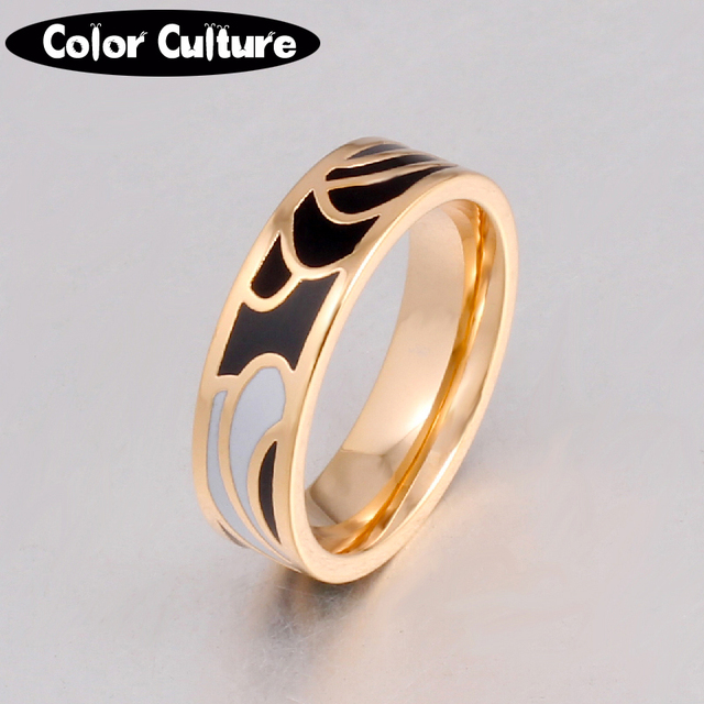 New Classic Rings for Women Stainless Steel Multi-Color Fashion Pretty Charm Ena