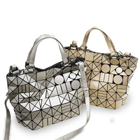 2019 Fashion Bo Bo Bag High Quality Women Tote Fold summer issey Bo Bo Hand Bag Laser Geometric Designer Handbags