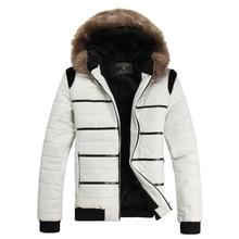 В зимний мужской кожаная куртка PU короткие зима большой меховой воротник с капюшоном с бархатной хлопок куртка мужчины