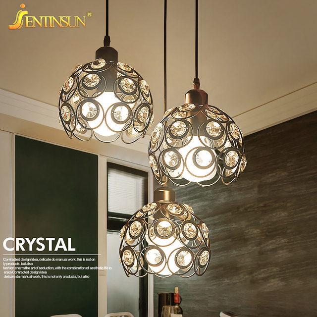 indoor hanging lights modern chrome chandelier crystals lighting ...