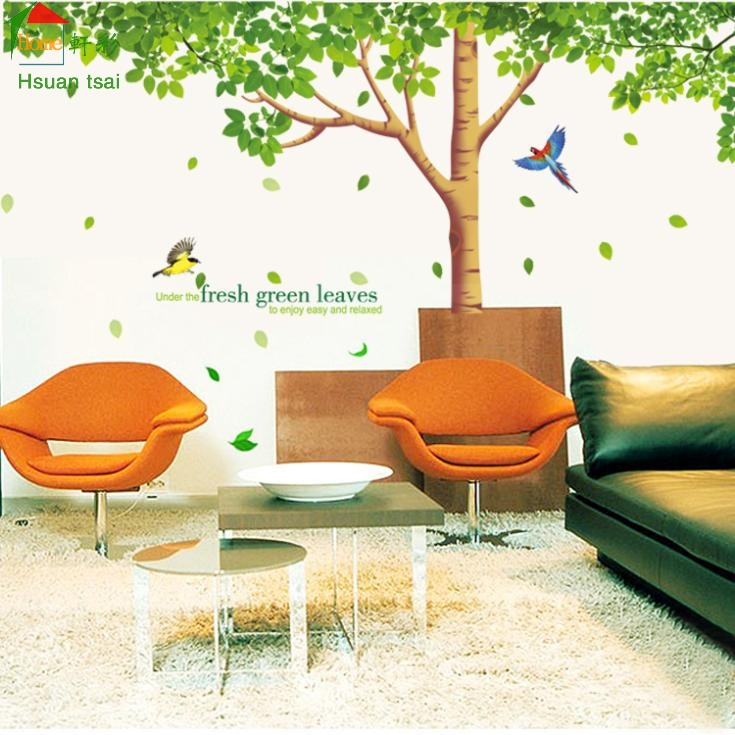 3d Large Size Round Dots Tree Wall Stickers Home Decor: ᐊKing Big Size Trees © Bird Bird Vinyl Wall Stickers ᗑ