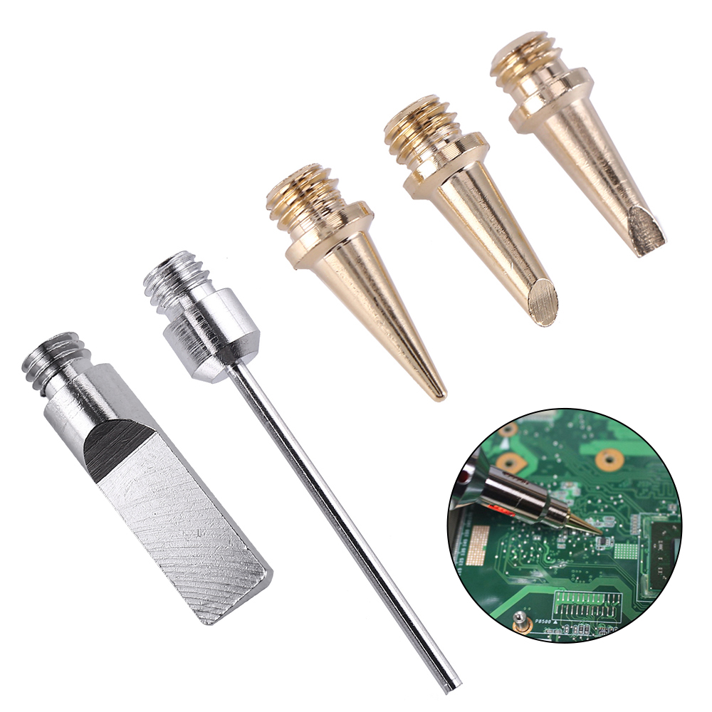 Self-Ignition 5pcs Gas Soldering Iron Cordless Welding Torch Kit Tool HS-1115K Top Quality Ignition Butane Soldering Iron Tip