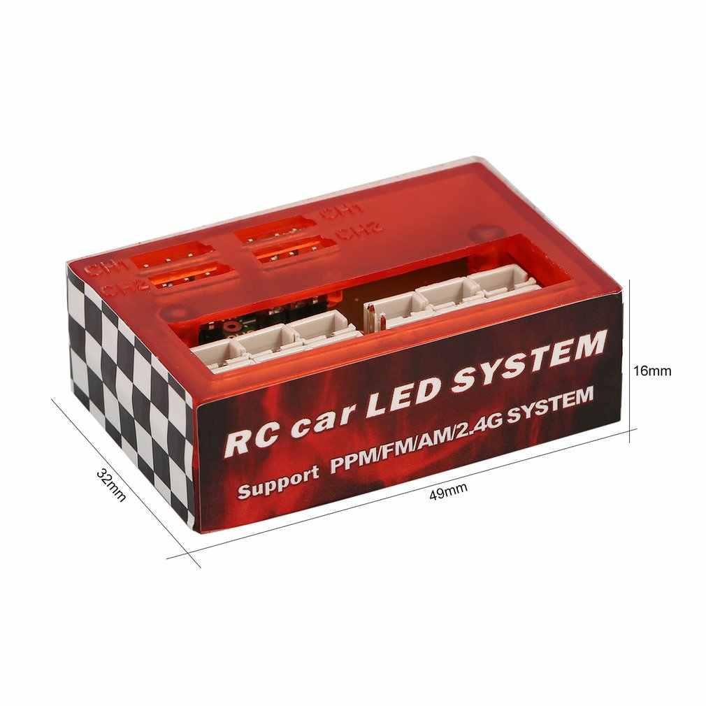 AX-003 Multi-función Ultra brillante luz LED para lámpara Kit de sistema para 1/10 de 1/8 RC coche HSP Traxxas TAMIYA CC01 Axial SCX10 D90 pieza de control remoto