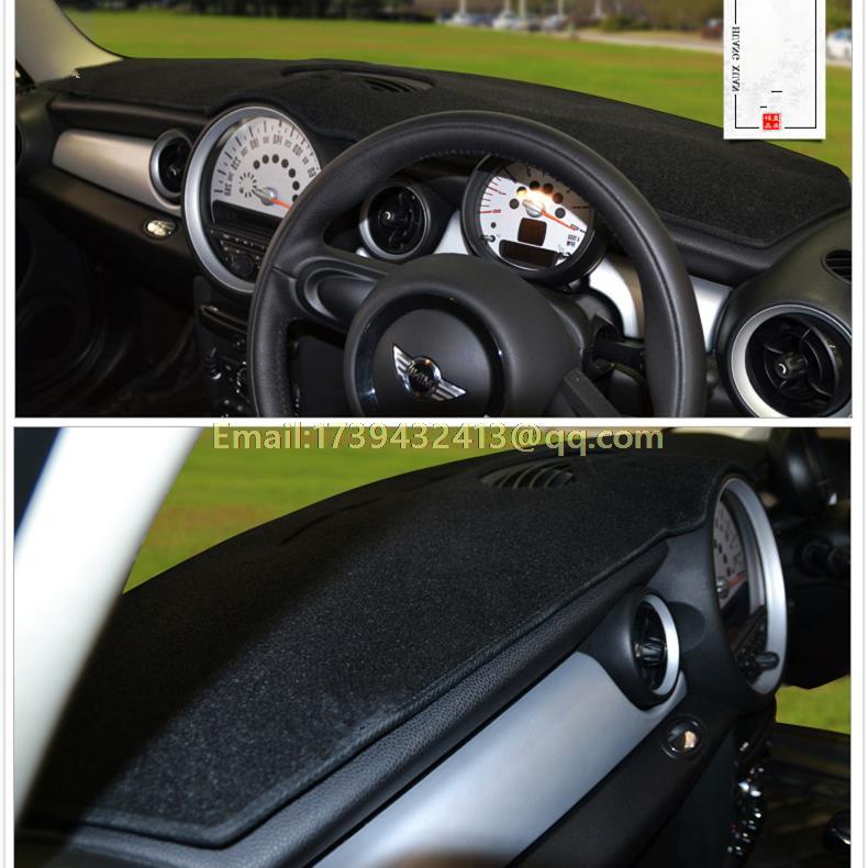 Accessoires de style de voiture dashmats housse de tableau de bord pour mini one cooper coupe CLUBMAN COUNTRYMAN PACEMAN R61 R56 F56 RHD