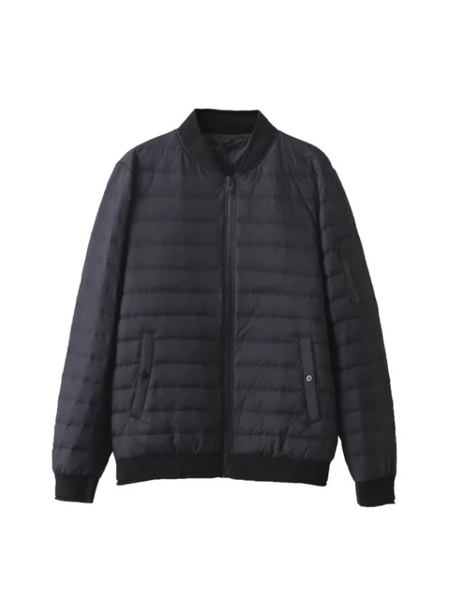 2018 Feather Jacket Men Ultra light 90% White Duck down Jacket Baseball Outdoors Stand Collar Basic Winter Coat plus Size 4XL