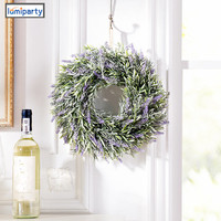 LumiParty Lavender Artificial Flowers Real Touch Artificial Lavender Garland Ivy Vine Hanging Wreath Home Deco