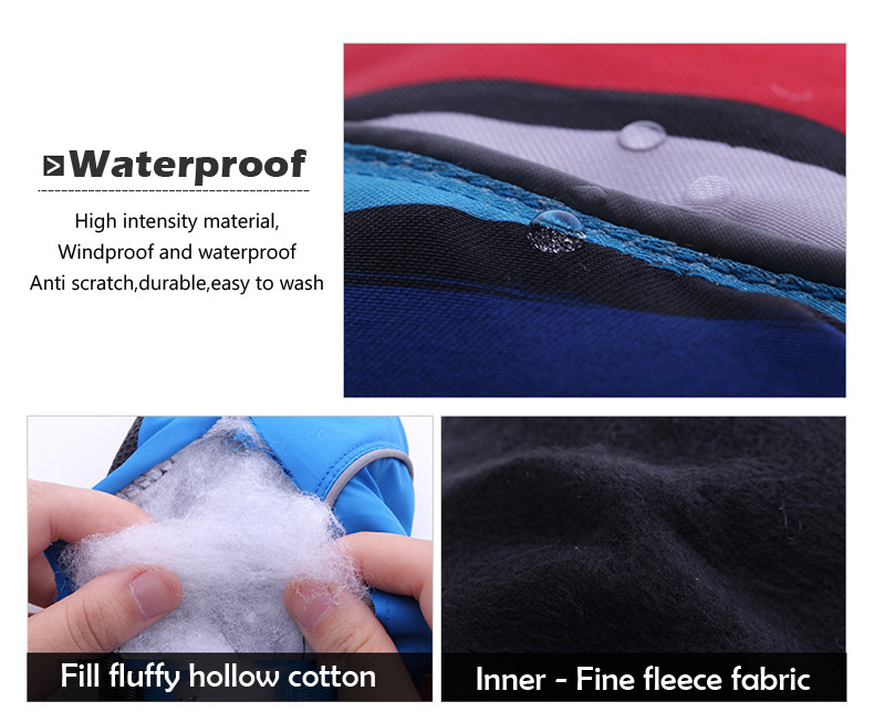 Queshark Waterproof Children Kids Winter Warm Skiing Gloves Snow Sport Mittens Outdoor Ski Snowboard Cyling Gloves 8