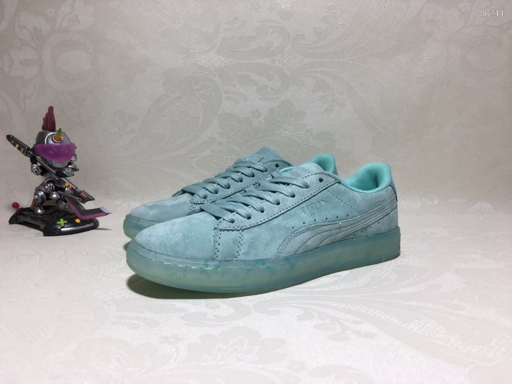 New style 2017 PUMA women CLYDE x EXTRA BUTTER New York King velvet sexy leisure sport feathered shoes