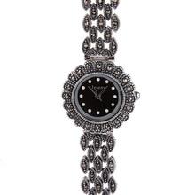 925 Libras Esterlinas de Prata Relógios para As Mulheres Movimento Japão Luxo Thai Marcasite Prata Round Dial Feminina Relógio de Quartzo reloj mujer