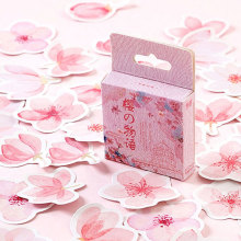цены 46Pcs/pack Beautiful cherry blossom Sticker Decorativs DIY Diary Stickers Scrapbooking Stationery Stickers School Supplies