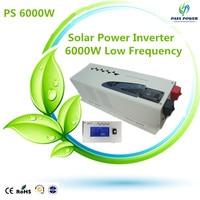 2016 low frequency power inverter 6000w inverter 24vdc to 220vac transformer inverter off grid pure sine waveform