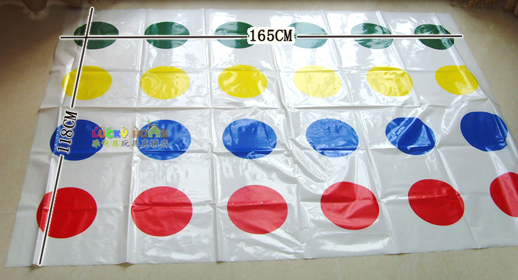 New Body Twister Game Big Size 165x118cm Play Mat Party Games