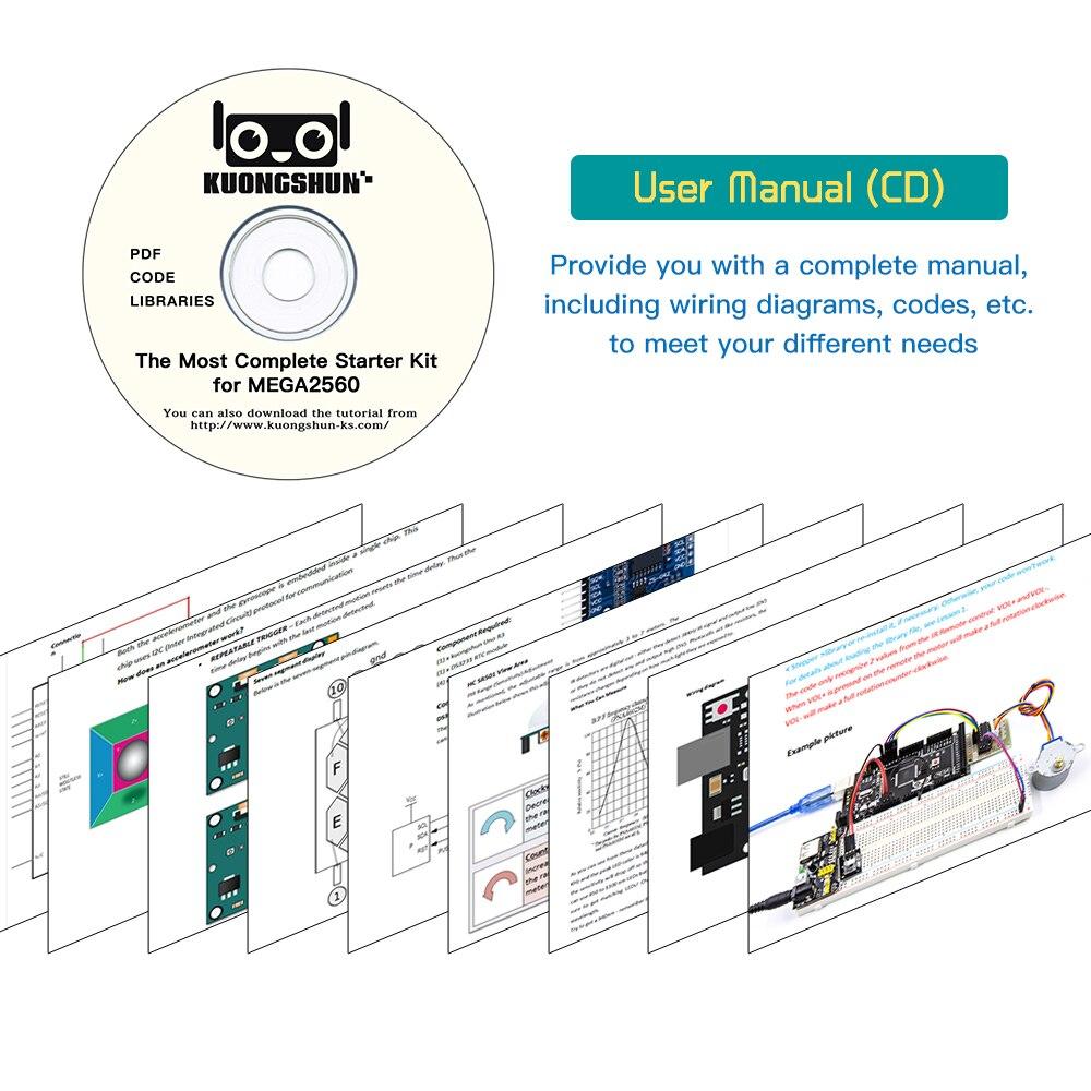 Projet Mega 2560 le Kit de démarrage ultime le plus complet avec tutoriel pour Arduino UNO Nano - 6