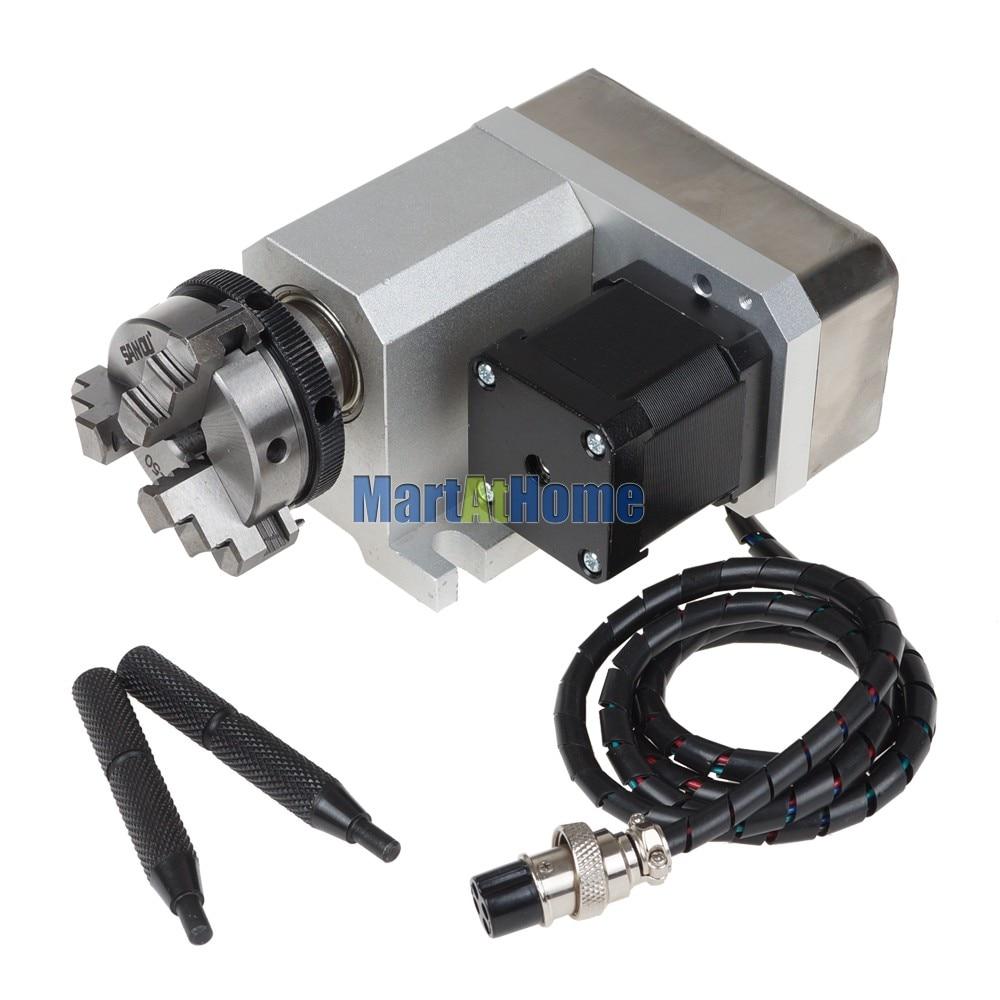 Bricolaje CNC 4 ° eje giratorio tipo F para enrutador CNC, máquina - Maquinaría para carpintería - foto 2