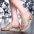 Women Sandals paillette Female Slippers Sexy Rhinestone Slip-Resistant Fashion Plus Size Women Latest Lady's Sandals Summer