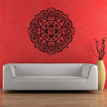 Symbol Mandala Buddhism Hinduism Lotus Stickers home decoration vinyl mural for living room fashion Poster wall sticker ZW32