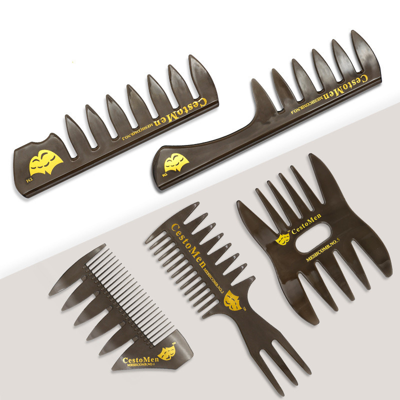 Hot Sale Brand  Wide Tooth Hair Brush Comb Professional Anti-static Hair Cutting Dyeing Comb Durable Salon Hairdressing Comb