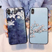 Glitter vintage flower case For Meizu PRO 7 Plus M15 15 Back cover 16th V8 Note 8 X8 capa coque shell