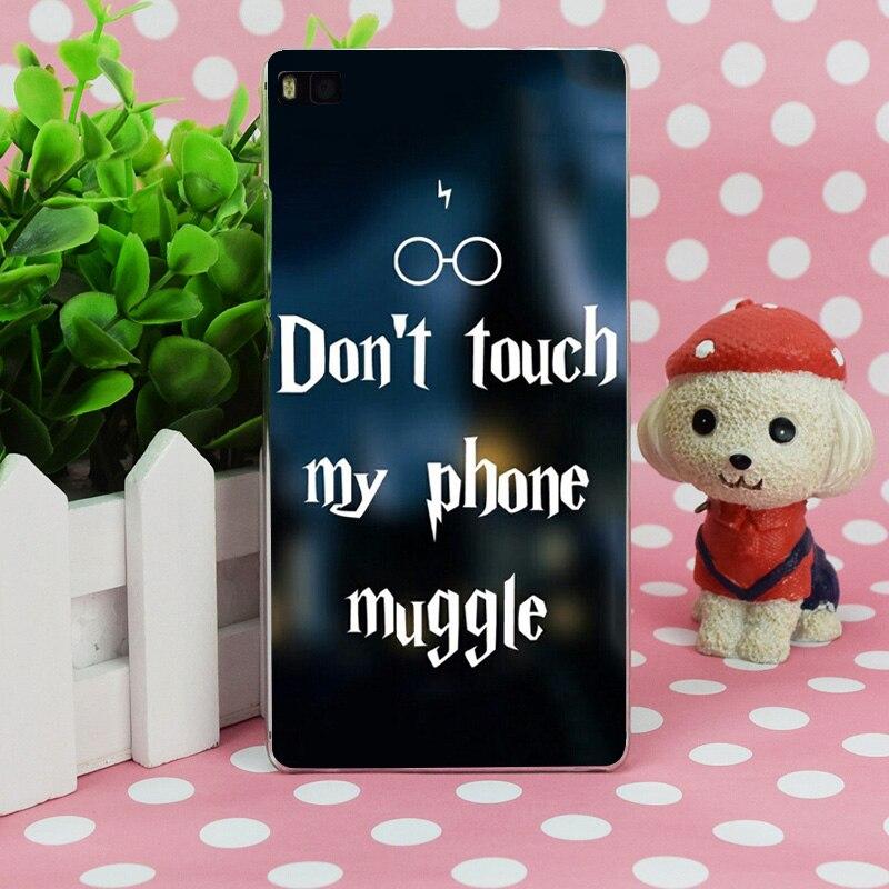 B1003 Dont Touch My <font><b>Phone</b></font> <font><b>Muggle</b></font> Transparent Hard Thin Case Skin Cover For Huawei P 6 7 8 9 Lite Plus Honor 6 7 4C 4X G7
