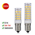 New E14 LED Lamp 5W 7W SMD2835 Mini LED Bulb Corn Light AC220V High Bright Crystal Chandelier Refrigerator Bombillas LED Lamps