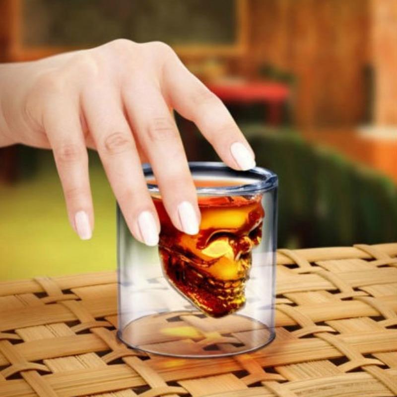 1 stk. 2,75 tommer 7 cm lille krystal kraniet hoved skud glas kop - Køkken, spisestue og bar - Foto 5