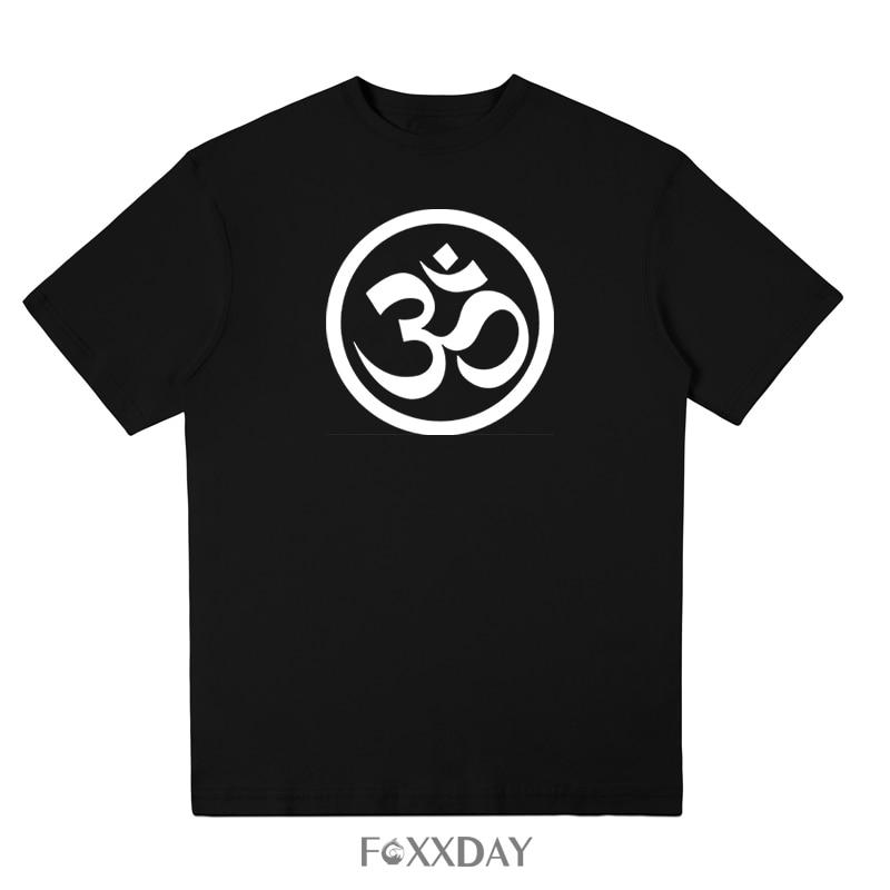 New Summer JN BUDDHISM OM MANI PADME HUM t-shirt high quality Top Tees Short Sleeve T Shirt Men Leisure fashion