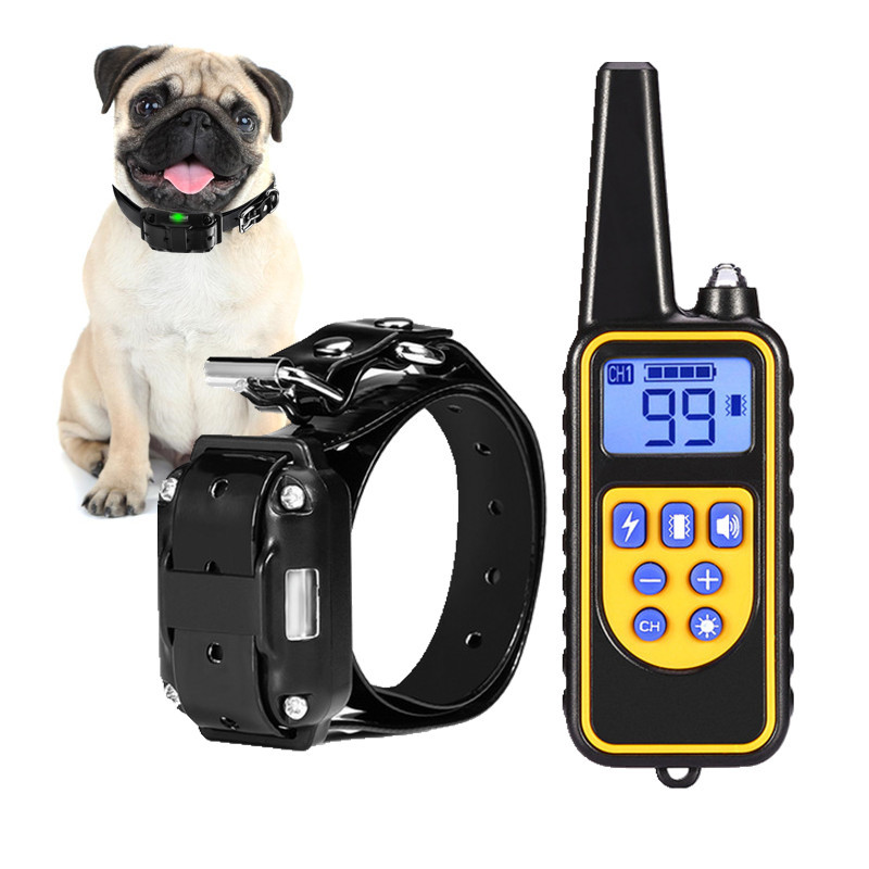 Waterproof Dog Training Collar With Vibration Electric Shock Pet Dog Remote Trainer Anti-Bark Collar Dog Supply 1/2/3 Channel dog care training collar