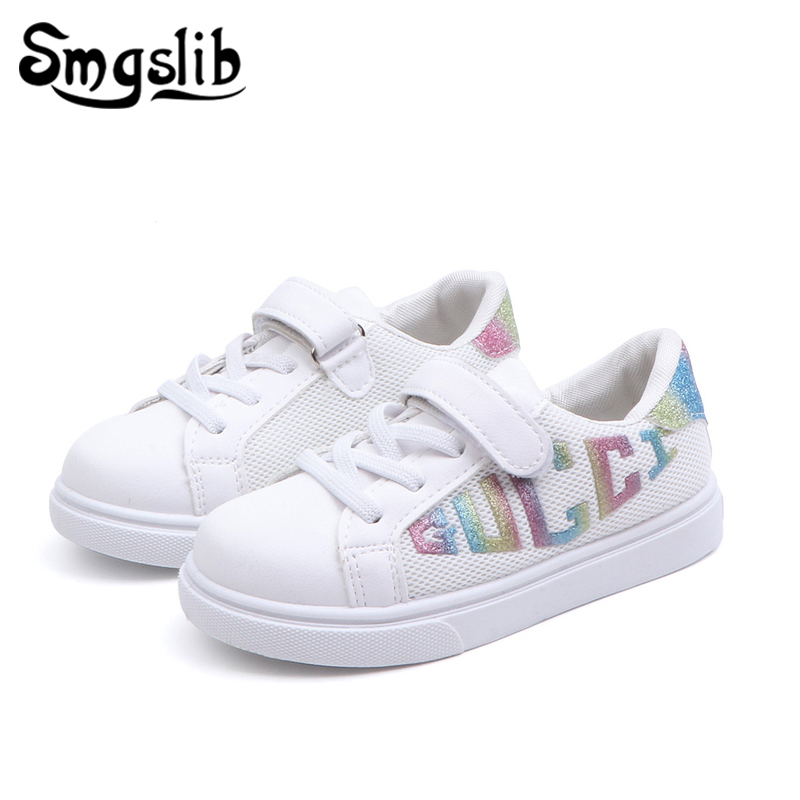Kids Casual Shoes White Girls Children Sneakers 2019 Spring
