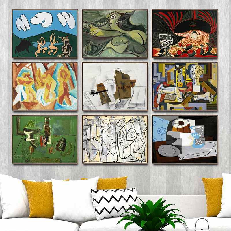 Home Decoration Art Wall Pictures Fro Living Room Poster Print Canvas Paintings French Pablo Picasso Abstract  Oil Painting