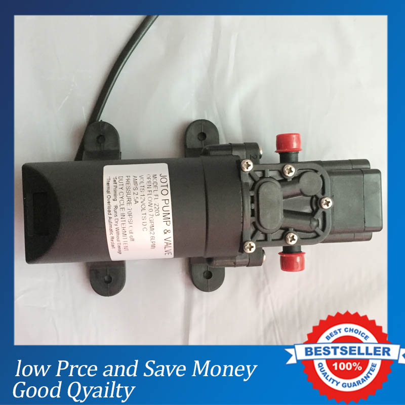 35Psi High Pressure Water Pump Micro Electric Diaphragm Pump 12V DC Large Flow Self-Priming Pump For Home Car Washer Use
