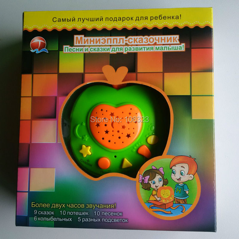 New-Russian-Apple-Stories-Teller-with-LED-Light-ProjectionBaby-Russia-Story-Learning-MachinesChildren-Educational-Learning-Toy-5